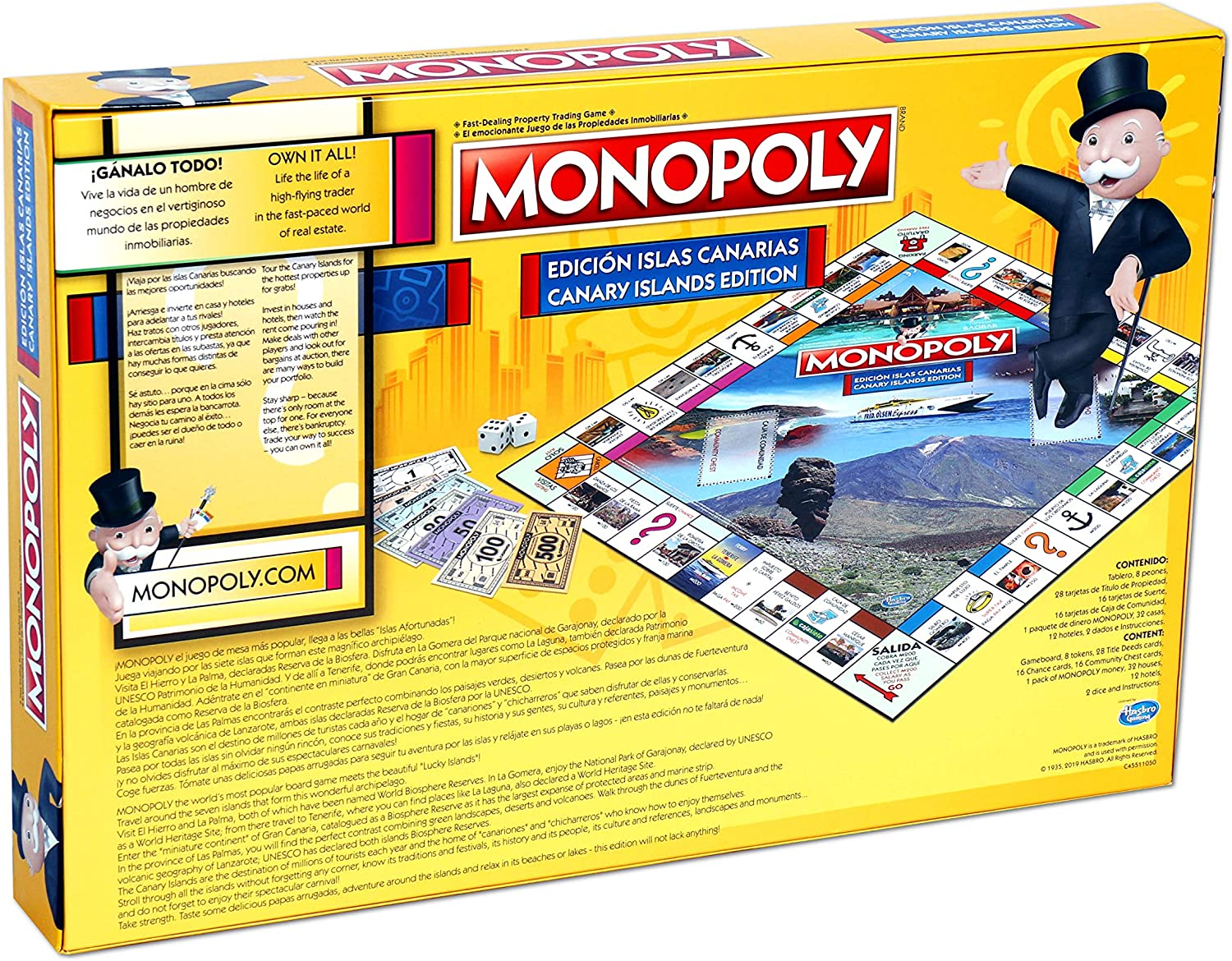 Amazon.com: Monopoly Canary Islands: Toys & Games