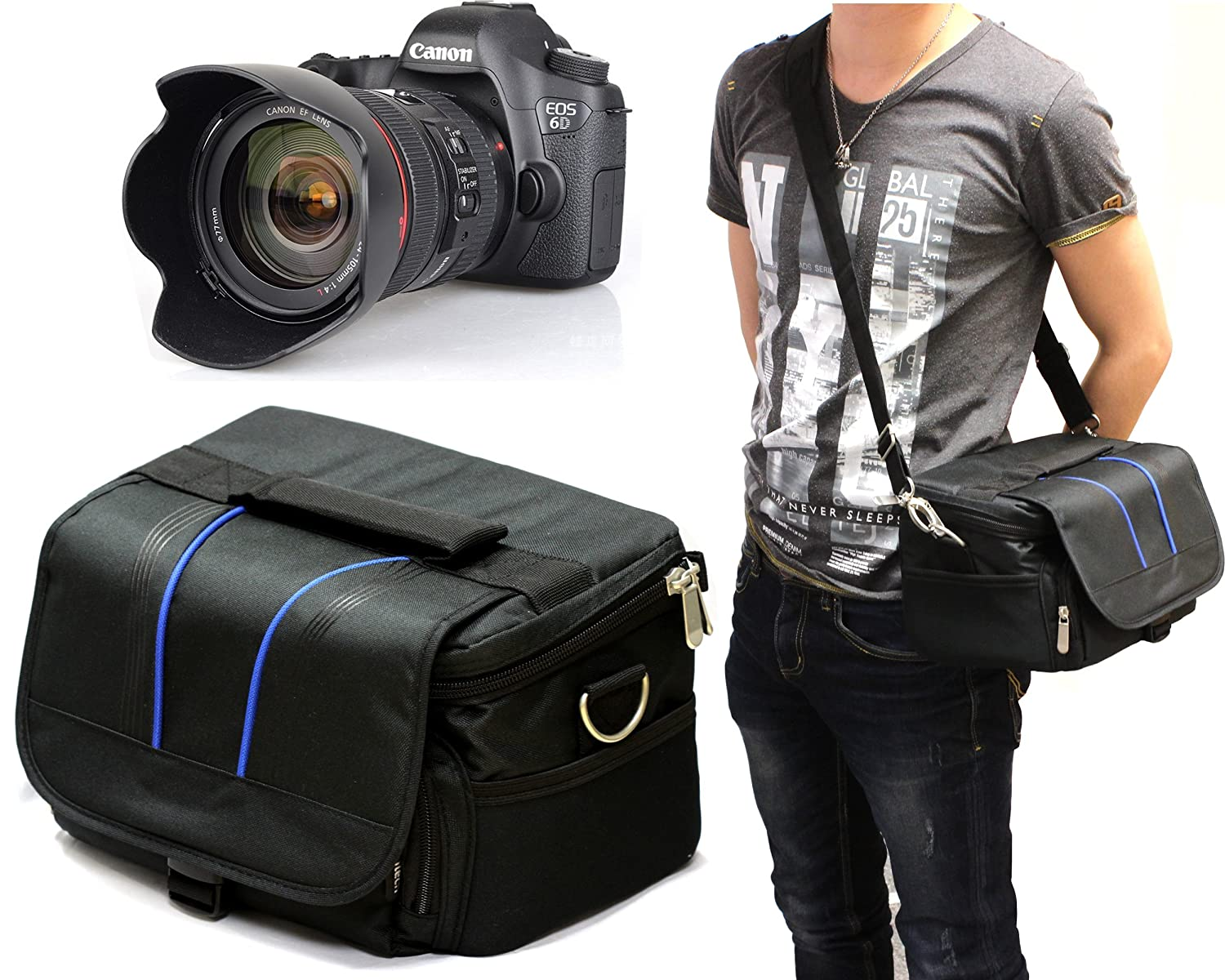 Navitech Black DSLR & Lense Camera Bag For CANON EOS: Amazon.co.uk ...