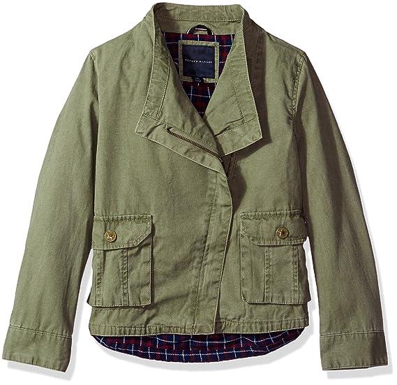 ca42eb354 Tommy Hilfiger Girls' Cargo and Plaid Jacket