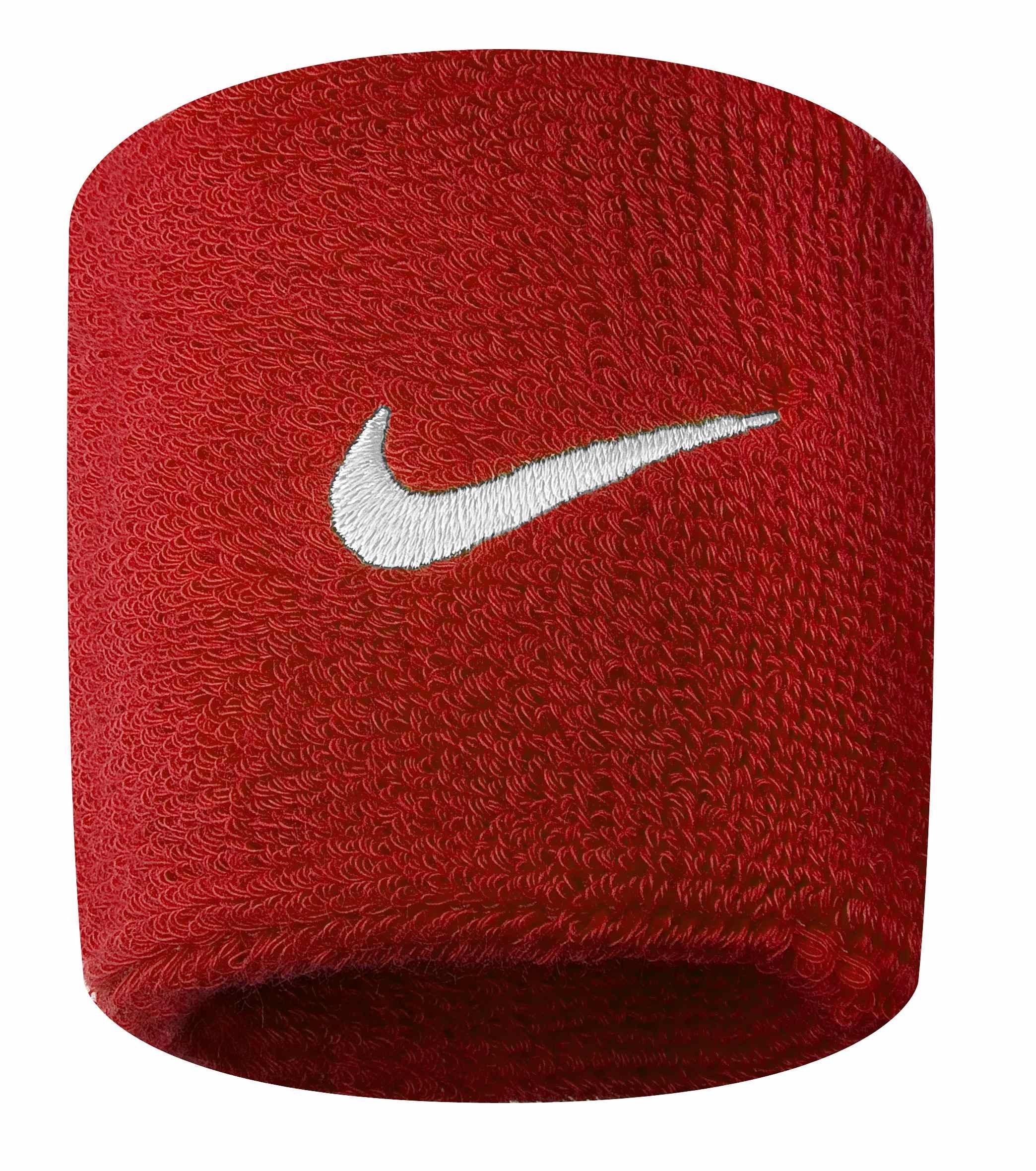 Nike Swoosh Wristbands (Varsity Red/White, Osfm) by Nike (Image #2)