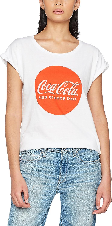 TALLA XL. Merch Código Mujer Coca Cola Round Logo tee–Camiseta