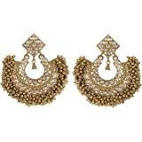 Muchmore 18K Gold Plated South Style Polki Earrings For Women