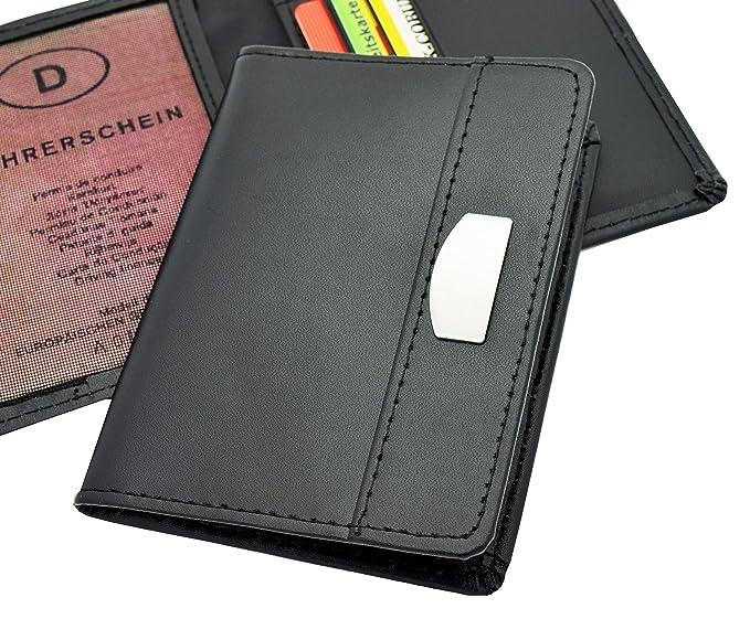 Ausweish/ülle Kreditkartenetui mit Metallschutzecken in 2 verschiedenen Designs Modell 1 // Ohne Folie Ausweisetui