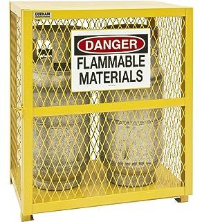 Durham Steel/Iron Vertical Cylinder Storage Cabinet, EGCVC2 50, 2 Cylinder  Capacity