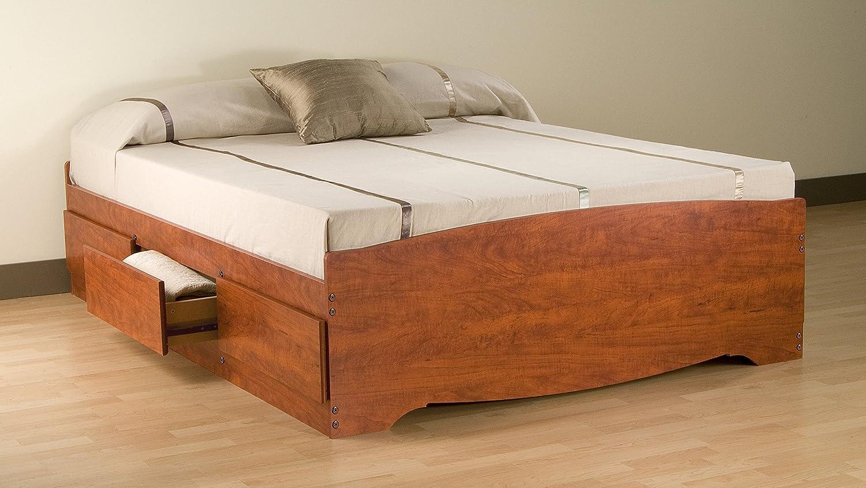 Amazoncom Cherry Queen Mates Platform Storage Bed with 6