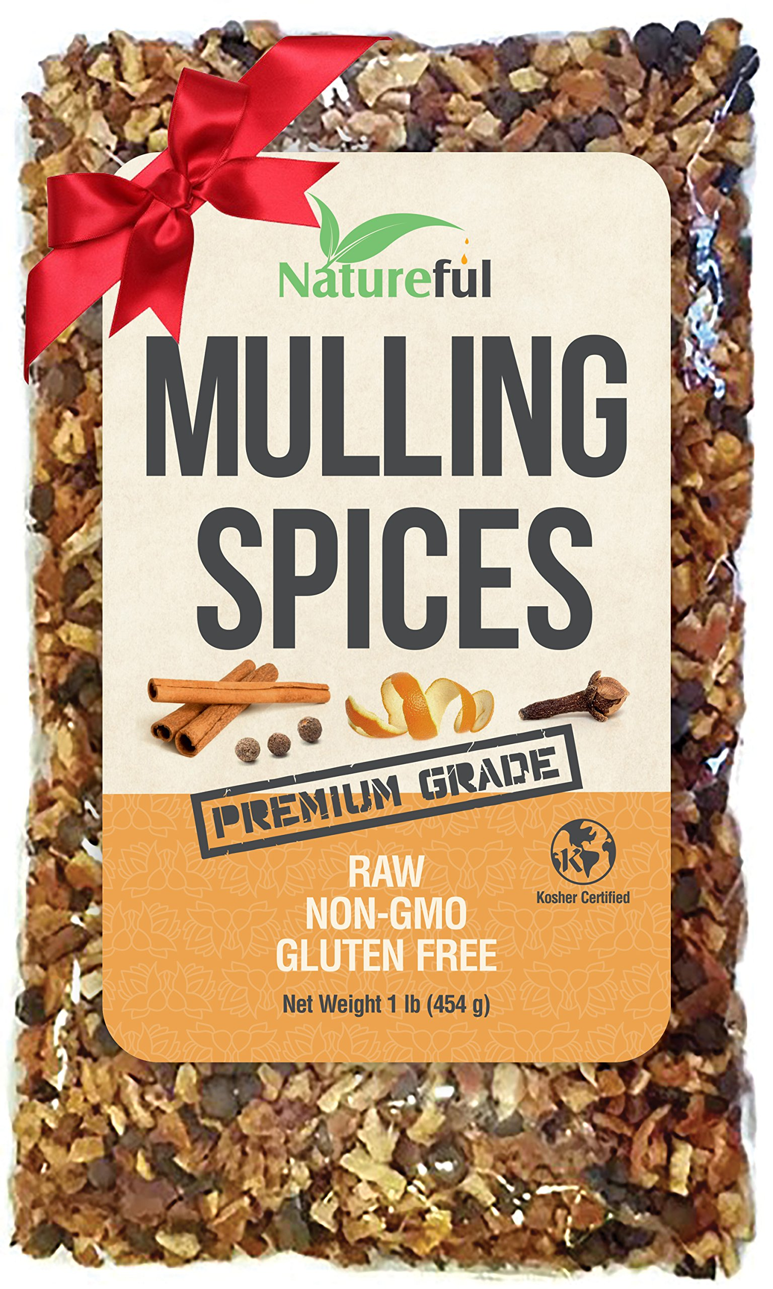 Mulling Spices for Mulled Wine Apple Cider Teas Kit: Holiday Special! Original 1 Pound Bulk Bag - Mix of Orange Peel, All Spice, Cinnamon Sticks Blend