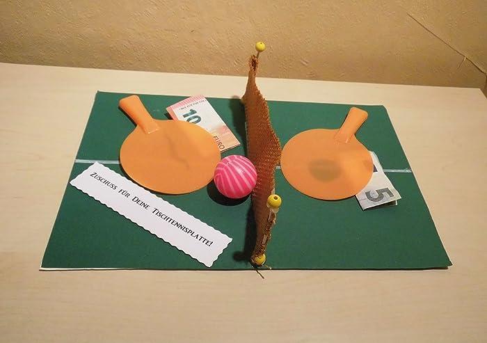 Geldgeschenk Dekoration Tischtennis Amazon De Handmade