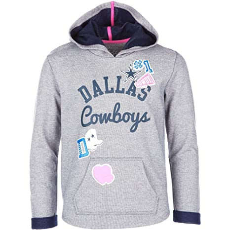 Licensed Sports Apparel Dallas Football Girls Youth Gray Holly Pullover  Hoodie - XXS 599c0ae46