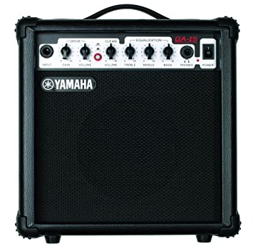 Yamaha GA 15 Guitarra Amplificador de 15 W, Clean/Distortion, 1 Speaker: Amazon.es: Instrumentos musicales