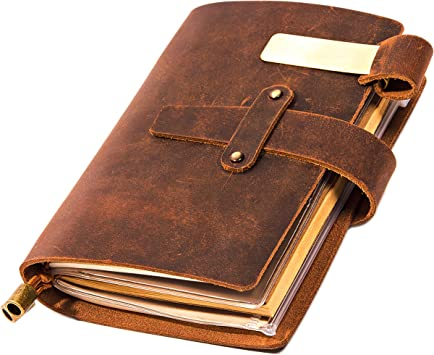 Horse A4 Leather Notebook Back to College Birthday Gifts for Women and Girls AIOR Journal Notebook Refillable Blank Diary for Writing Travel School Business Note Taking