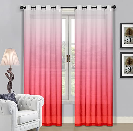 Amazon.com: Beverly Hills Window Treatment Collection Fabric Ombre ...