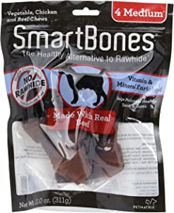 Smartbones Beef Flavor Rawhide-Free Dog Bones And Chews