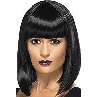 R'n'B Star Rihanna Mia Wallace Style Long Black Bob Wig