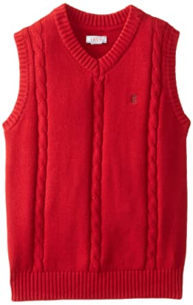 Amazon.com: IZOD Big Boys' Holiday Solid Cable Knit Sweater Vest ...