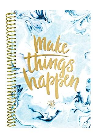 bloom daily planners UNDATED Calendar Year Day Planner - Passion/Goal Organizer - Monthly/Weekly Agenda Book with Tabs (January to December) - 6