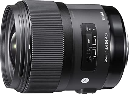 Sigma 35mm F/1.4 DG HSM Art Lens for Canon DSLR Cameras Camera Lenses at amazon
