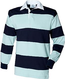 Front Row Striscia Cucita Maglia da Rugby a Maniche Lunghe