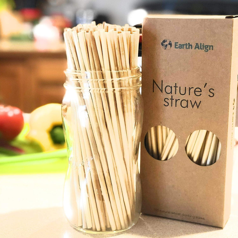 All Natural Wheat Drinking Straws 100pcs