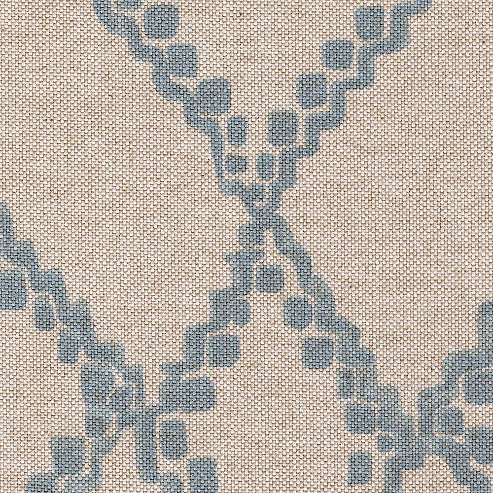 Medina Swedish Blue Diamond Geometric Cotton Shower Curtain