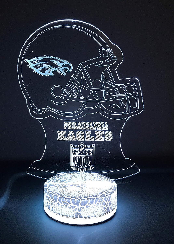 Philadelphia Football Team 3D Night Light Color Changing Illusion Lamp for Children Kids NFL Sport Fan Gift Christmas Birthday Best Gifts