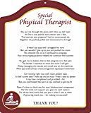 Rikki Knight Thank you Physical Therapist - Burgundy with Dark Yellow Border Touching 8x10 Poem Plaque with Arch Top