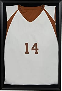 Snap Sports, 20 inches x 30 inches, Black Jersey Wall Display Case Shadow Box