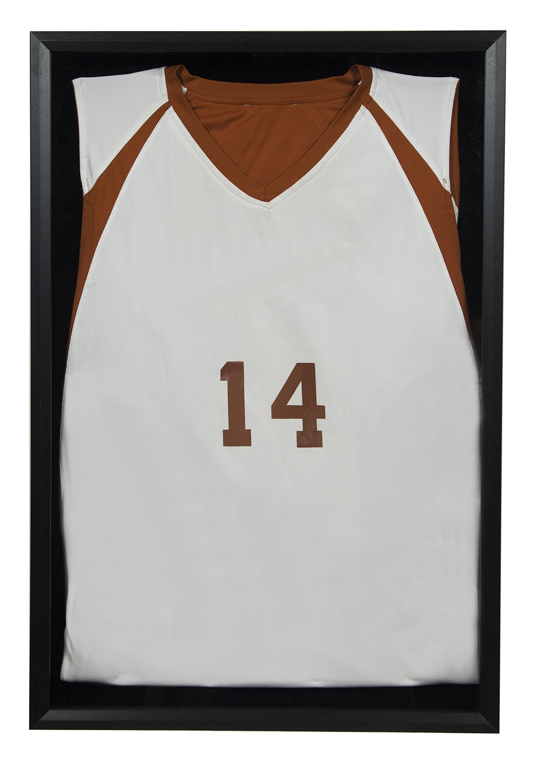 Snap Sports, 20 inches x 30 inches, Black Jersey Wall Display Case Shadow Box, by Snap