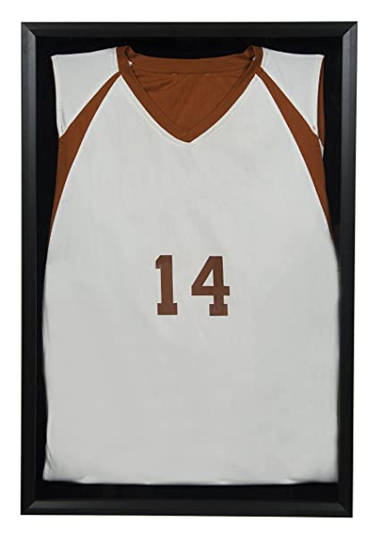Snap Sports 20 Inches X 30 Inches Black Jersey Wall Display Case