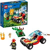 LEGO City Forest Fire 60247 Firefighter Toy, Cool Building Toy for Kids