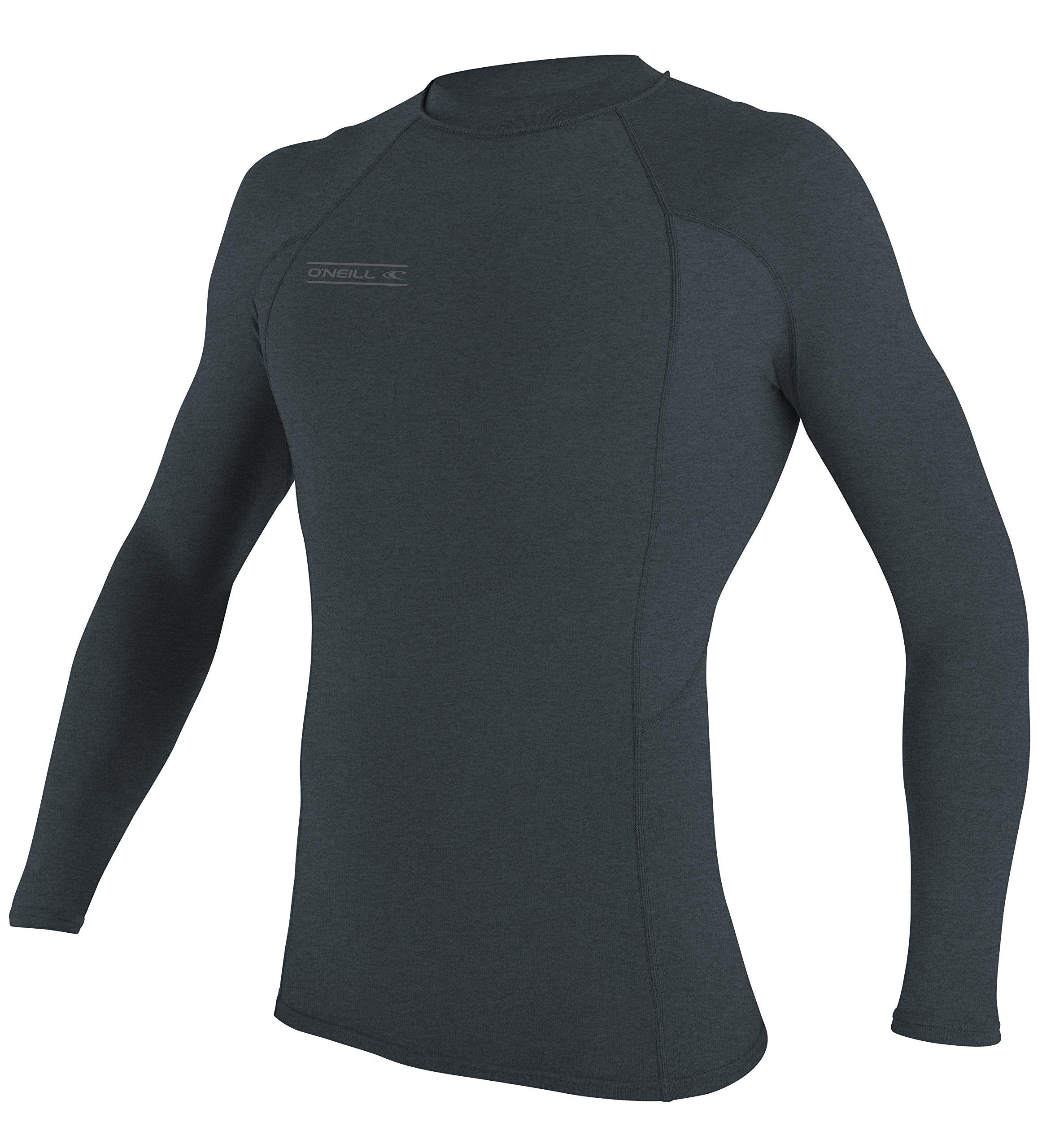 O'Neill UV Sun Protection Men's Basic Skins Long Sleeve Crew Rashguard, Blue Dim Slate, Large