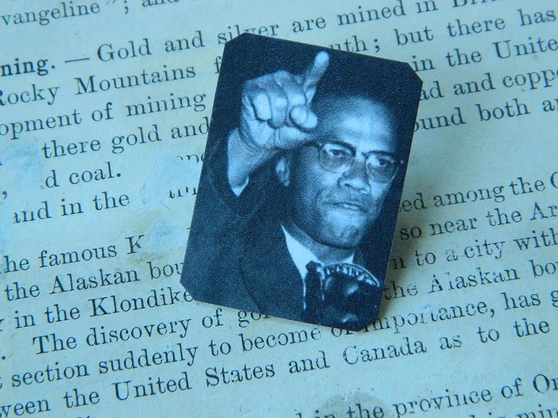 Malcolm X lapel pin
