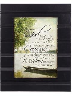 the serenity prayer boat on a lake black 8 x 10 sentimental framed art plaque