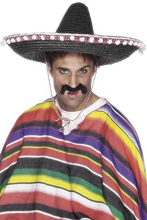 b3009e66040d6 Smiffy S 25509 Sombrero Mexicano De Paja Con Borlas Y Cuerda Al Cuello