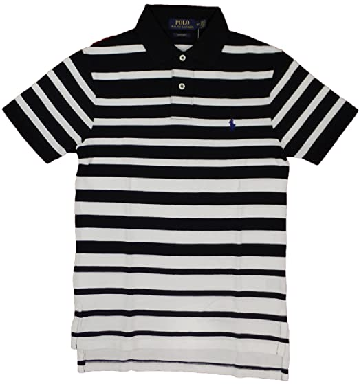 621cdf43ba271 Image Unavailable. Image not available for. Color: Polo Ralph Lauren Men's Striped  Polo Shirt Custom Fit (S, Polo Black)