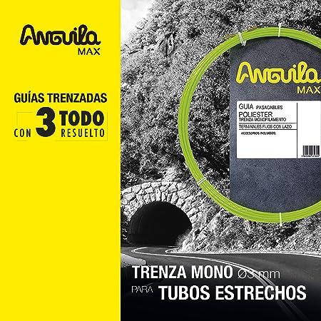 ANGUILA MAX 7.5045.022 Gu/ía pasacables Especial Curvas Poli/éster Triple Trenzada 4,5mm 22 metros y terminales mixtos Azul