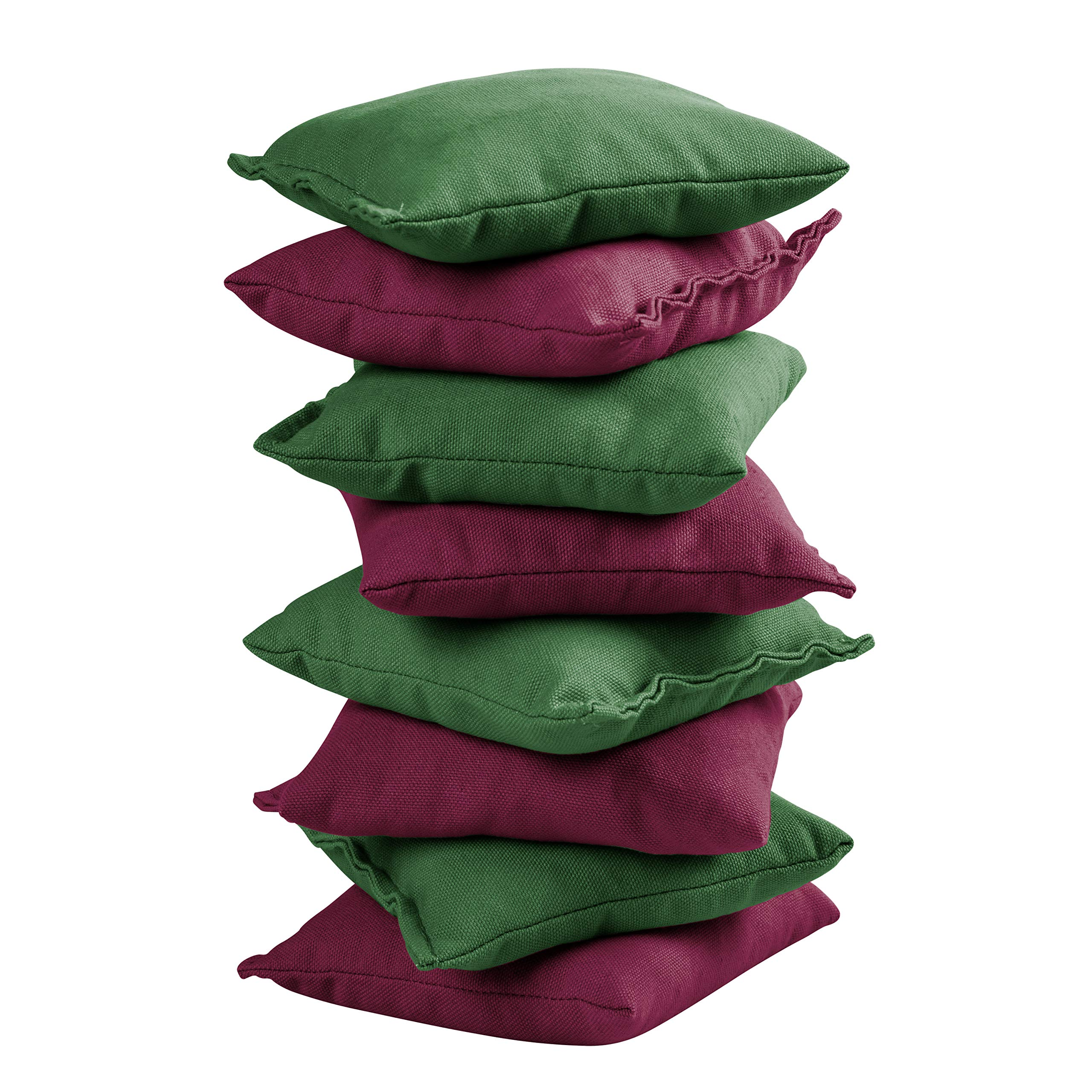 Victory Tailgate 8 Colored Corn Filled Regulation Cornhole Bags with Drawstring Pack (4 Burgundy, 4 Hunter Green) by Victory Tailgate (Image #2)