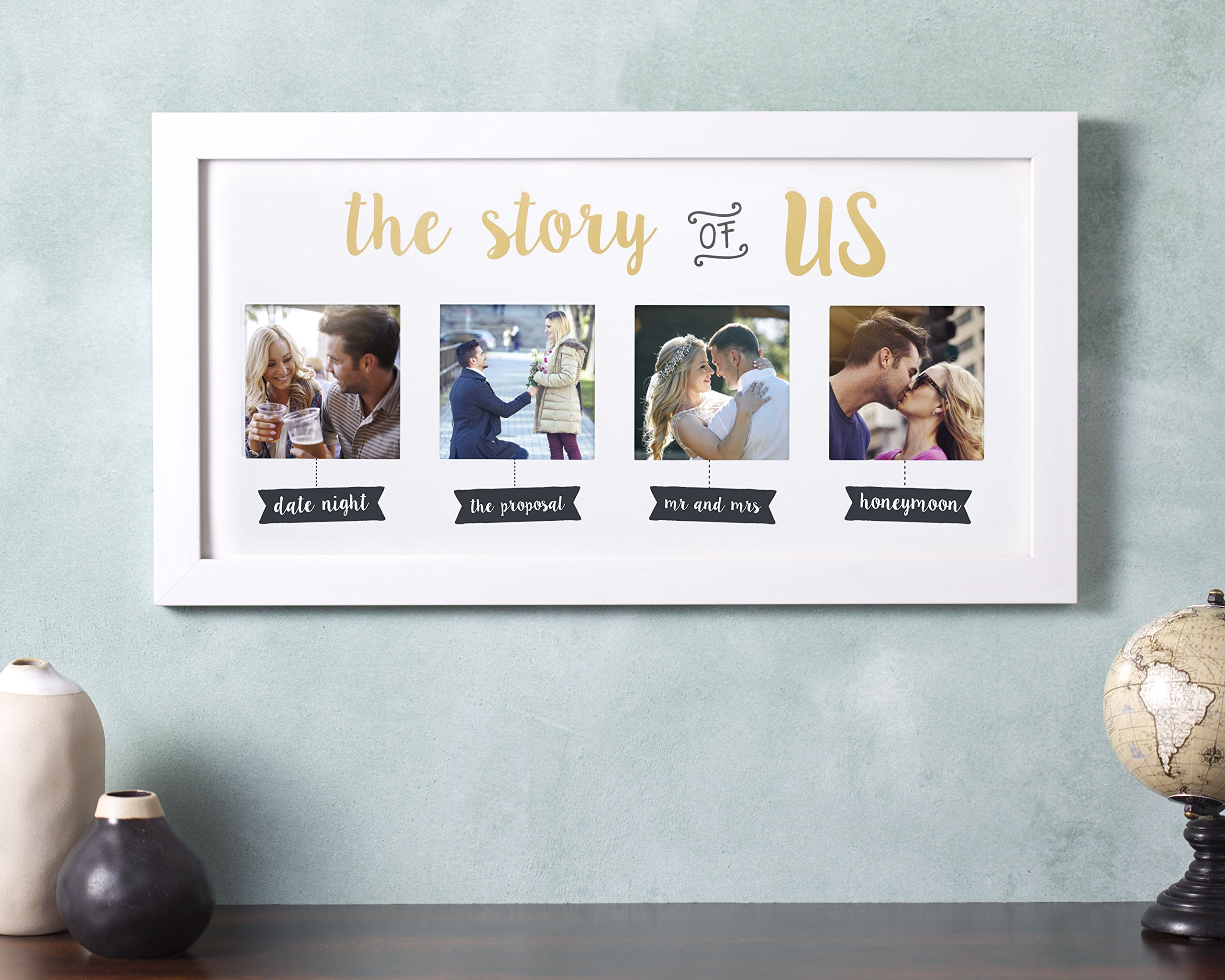 Kate & Milo 'The Story of Us' Photo Frame, White, Cherish Your Love Story, The Perfect Bridal Shower Gift by Kate & Milo (Image #2)