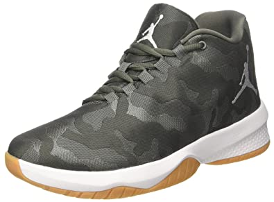NIKE Men's Air Jordan B Fly River Rock/White-Dark Stucco 881444-051