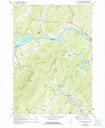 Amazon.com: Historic Map | Lower Waterford, Vermont (VT ...