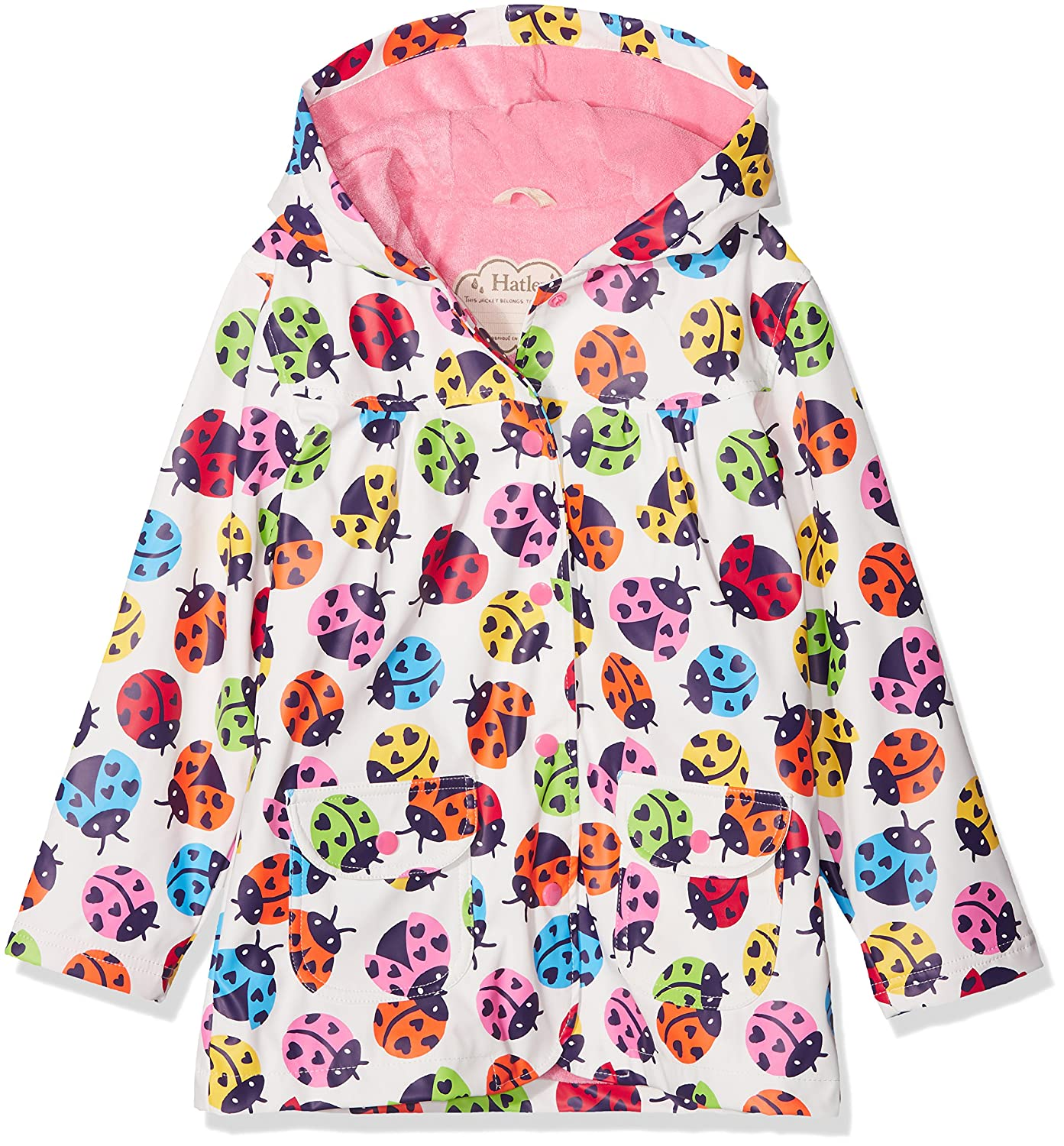Hatley Kids Womens Rainbow Ladybirds Classic Raincoat (Toddler/Little Kids/Big Kids)