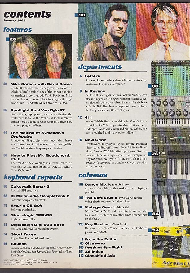 KEYBOARD Mike Garson David Bowie Paul Van Dyk ++ 1 2004 at Amazon's