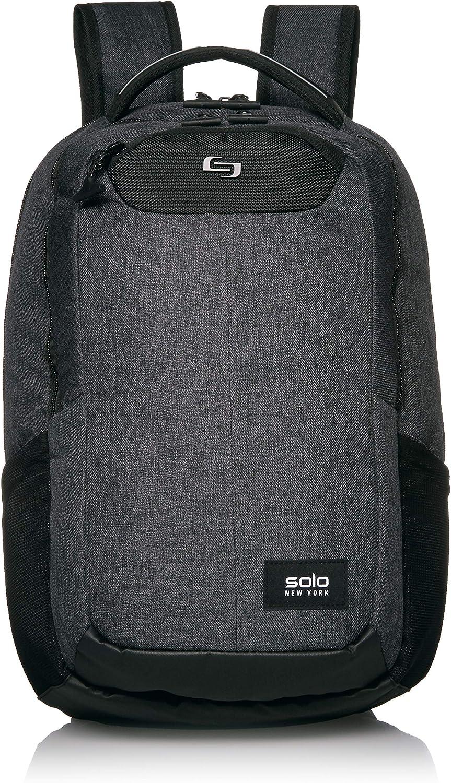 Solo New York NOM700-10 Nomad Navigate, Professional Slim Backpack for Women, Men, fits 15.6 inch Laptop, Grey/Black