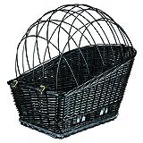 Trixie 13117 Fahrradkorb mit Gitter für Gepäckträger, 35 x 49 x 55 cm, schwarz