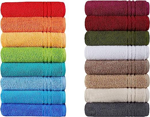 12er Handtuch Set Handtücher Duschtücher PREMIUM 100/% Baumwolle orange grau