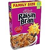 Kellogg's Raisin Bran, Breakfast Cereal, Original, Excellent Source of Fiber, Family Size, 23.5 oz Box
