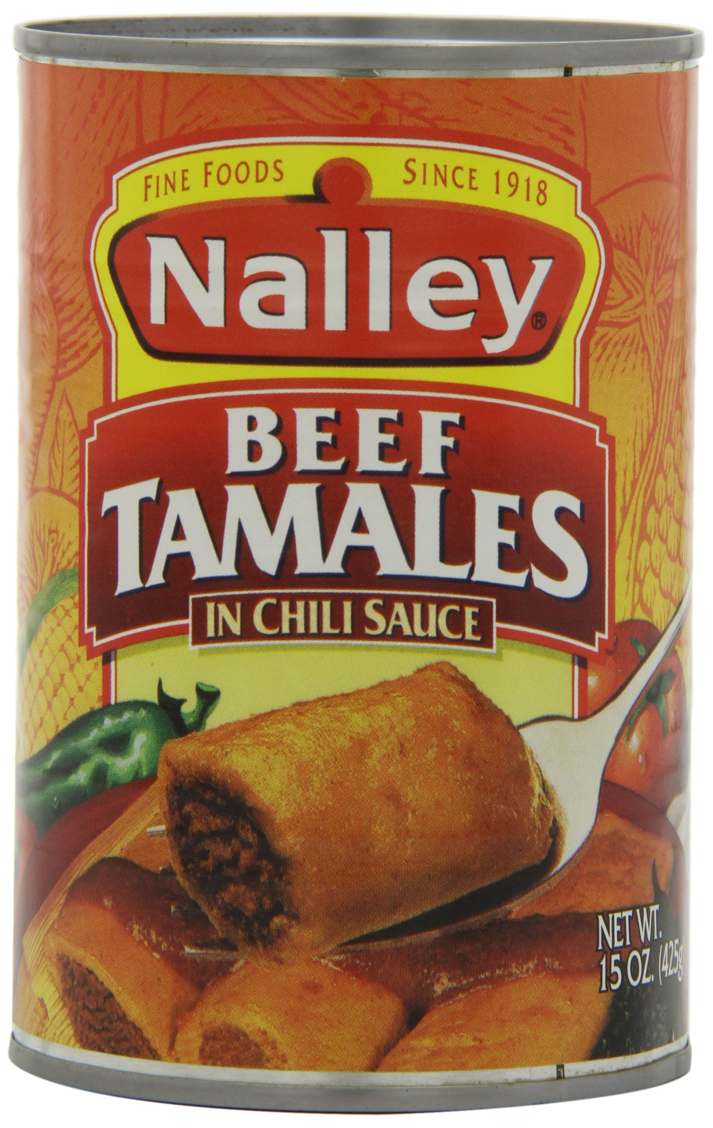 Nalley Beef Tamales in Chili Sauce, 15-Ounce (Pack of 6) by Nalley