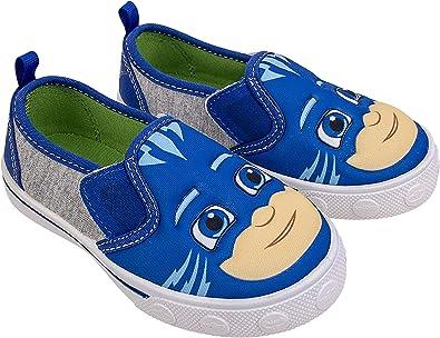 PJ Masks Zapatos para niños,Zapatilla de deporte con parte superior baja,Catboy Gekko y Owlette,Tamaño de niño 5 a 12