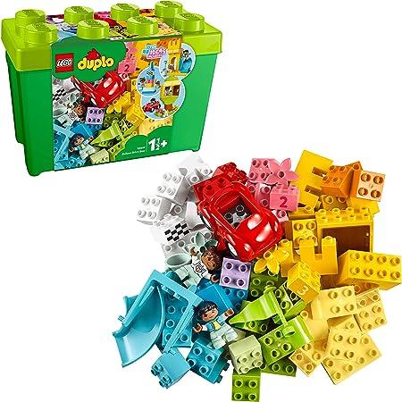 LEGO DUPLO Classic - Caja de Ladrillos Deluxe, Set de Construcción con Caja de Almacenaje, Juguete de Iniciación en LEGO, Recomendado a Partir de 18 Meses (10914) , color/modelo surtido: Amazon.es: Juguetes