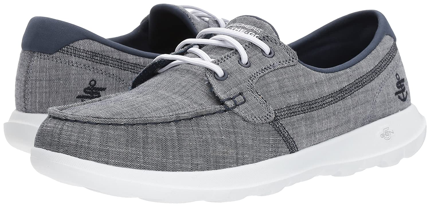 Skechers Women's Go Walk Lite-15433 Boat Shoe B071XJPYQH 9 B(M) US|Navy