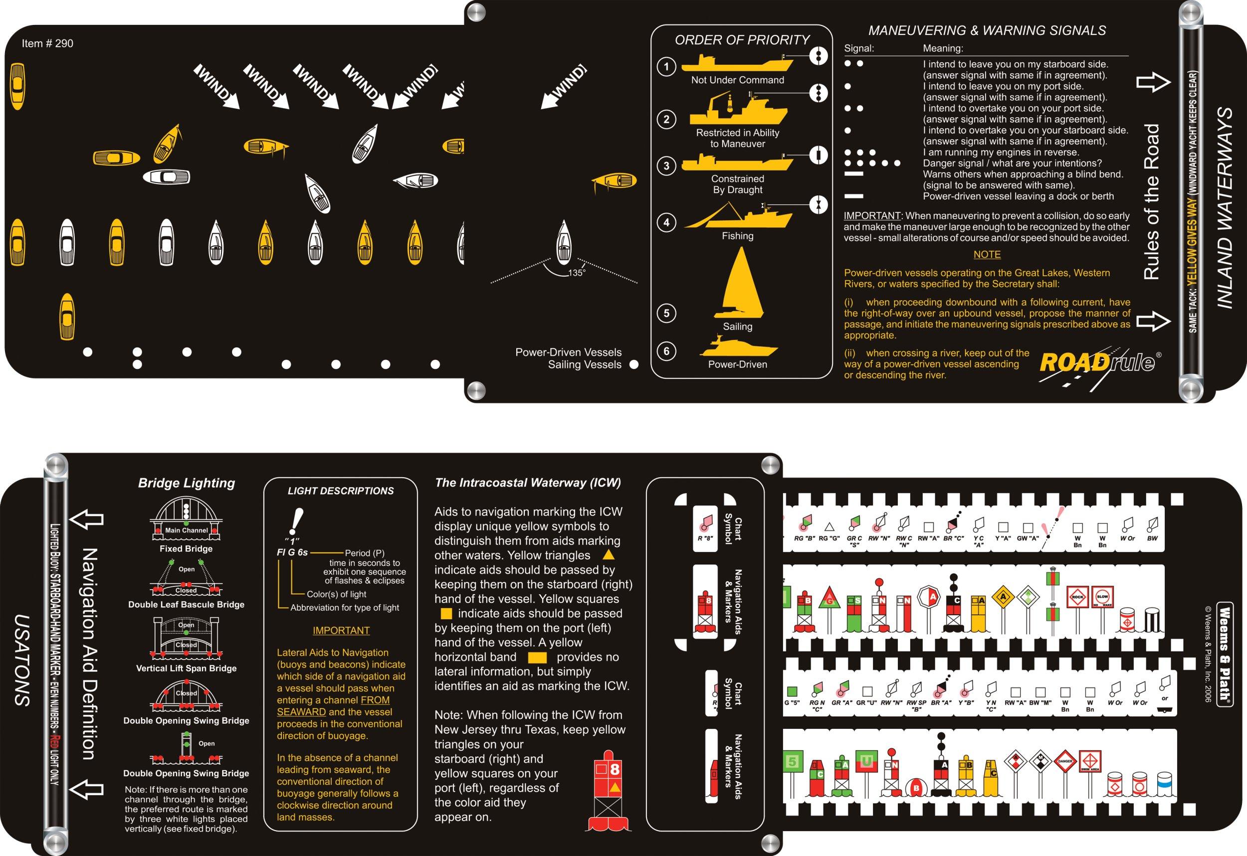 Weems & Plath Marine Navigation ROADrule Marine Navigation Aids, Rules of the Road and Light Characteristics (USATONS, U.S. Waters)